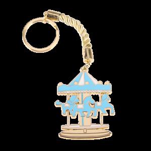 Μπομπονιέρα Βάπτισης Carousel Γαλάζιο Μπρελόκ/ 1212Α-126 Andronidis Ζητήστε προσφορά !!!!