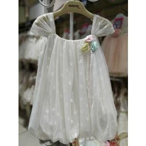 Ολοκληρωμένο πακέτο βάπτισηs με αυτό το Φόρεμα   (Aslanis Κωδ.ASK6410)  Με βαλίτσα rain η παγκάκι θρανίο προσφορά!!!!!!!