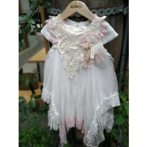 Ολοκληρωμένο πακέτο βάπτισηs με αυτό το Φόρεμα (Neonato Κωδ.4880-170-280) Με βαλίτσα rain η παγκάκι θρανίο προσφορά!!!!!!!