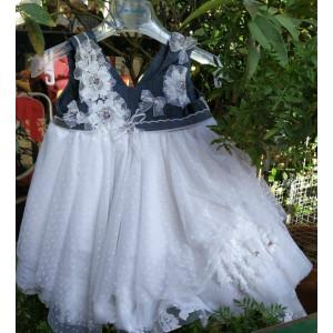 Ολοκληρωμένο πακέτο βάπτισηs με αυτό το φόρεμα (BAMBOLINO Κωδ.8129-11) Με βαλίτσα rain η παγκάκι θρανίο προσφορά!!!!!!!
