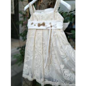 Ολοκληρωμένο πακέτο βάπτισηs με αυτό το Φόρεμα (Erofili Κωδ.2725) Με βαλίτσα rain η παγκάκι θρανίο προσφορά!!!