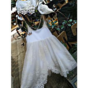 Ολοκληρωμένο πακέτο βάπτισηs με αυτό το Φόρεμα (Baby U Rock 13142) Με βαλίτσα rain η παγκάκι θρανίο προσφορά!!!!!!!