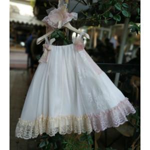 Ολοκληρωμένο πακέτο βάπτισηs με αυτό το Φόρεμα (Vanessa Cardui Κωδ.VC0613-110-220) Με βαλίτσα rain η παγκάκι θρανίο προσφορά!!!!!!!