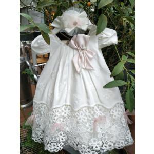 Ολοκληρωμένο πακέτο βάπτισηs με αυτό το φόρεμα (Picolo Bambino  Κωδ.2011-45-95) (Με Βάλίτσα η παγκάκι θρανίο)