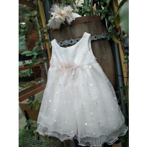 Ολοκληρωμένο πακέτο βάπτισηs με αυτό το Φόρεμα (Pupet Κ.3753-120)  Με βαλίτσα rain η παγκάκι θρανίο προσφορά!!!