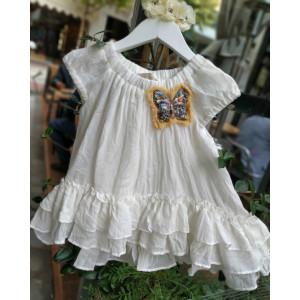 Ολοκληρωμένο πακέτο βάπτισηs με αυτό το Φόρεμα  (Vanassa Cardui Κωδ.15119)  Με βαλίτσα rain ή παγκάκι θρανίο!!