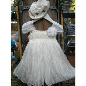Ολοκληρωμένο πακέτο βάπτισηs με αυτό το Φόρεμα (Neonato Κωδ.4876-1) Με βαλίτσα rain ή παγκάκι θρανίο!!