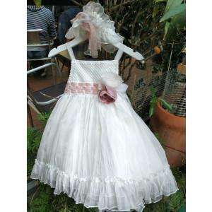 Ολοκληρωμένο πακέτο βάπτισηs με αυτό το Φόρεμα (Vanessa Cardui Κωδ.25432-1) Με βαλίτσα rain ή παγκάκι θρανίο