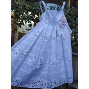 Ολοκληρωμένο πακέτο βάπτισηs με αυτό το φόρεμα (Vanessa Cardui Κωδ.25450) Με βαλίτσα rain η παγκάκι θρανίο προσφορά!!!!!!!