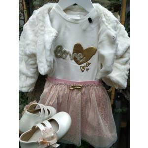 Μπολερό γουνάκι με φούστα μπλούζα (Evita Κωδ.3510-1)