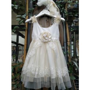 Ολοκληρωμένο πακέτο βάπτισηs με αυτό το φόρεμα (Makis Tselios Κωδ. 41385) Με βαλίτσα rain η παγκάκι θρανίο προσφορά!!!!!!