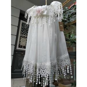 Ολοκληρωμένο πακέτο βάπτισηs με αυτό το Φόρεμα (Makis Tselios Κωδ.Κ4026-105)
