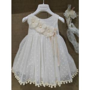 Ολοκληρωμένο πακέτο βάπτισηs με αυτό το Φόρεμα (Vanessa Cardui Κωδ.254-205) Με βαλίτσα rain η παγκάκι θρανίο προσφορά!!!!!!!