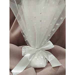 Μπομπονιέρα γάμου τούλινη (κωδ.3592-23)