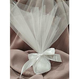 Μπομπονιέρα γάμου τούλινη (κωδ.3590-23)