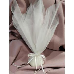 Μπομπονιέρα γάμου τούλινη με πέρλα (κωδ.3596-23)