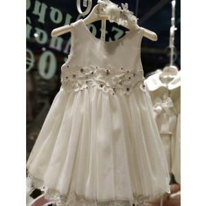 Ολοκληρωμένο πακέτο βάπτισηs με αυτό το φόρεμα (Mi chiamo Κωδ.Κ4032-105) Με βαλίτσα rain η παγκάκι θρανίο προσφορά!!!!!!!