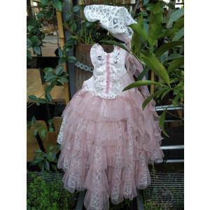 Ολοκληρωμένο πακέτο βάπτισηs με αυτό το φόρεμα (Κωδ.722.312.001) (Με Βάλίτσα η παγκάκι θρανίο) Δωρεάν μεταφορικά Μόνο για λίγο!!!