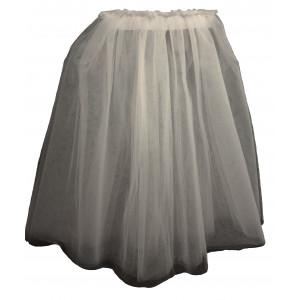 Φούστα Τούλι με σούρα (Άσπρο) (#583.001.025+12#)