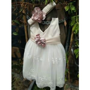 Ολοκληρωμένο πακέτο βάπτισηs με αυτό το φόρεμα (La christine #Κ-19-127-135#) Με βαλίτσα rain η παγκάκι θρανίο Δωρεάν μεταφορικά