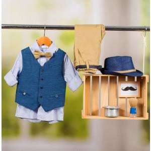 Ολοκληρωμένο πακέτο βάπτισης με αυτό το κοστούμι Bambolino Zafiris (#8878-170-330#) Με βαλίτσα rain η παγκάκι θρανίο Ζητήστε προσφορά !!