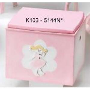 Κουτί ξύλινο πριγκίπισσα με μαξιλάρι Κωδ.Κ103