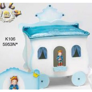 Κουτί ξύλινο άμαξα με πρίγκιπα Κωδ.Κ106