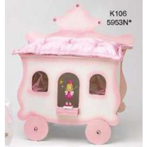 Κουτί ξύλινο άμαξα με πριγκίπισσα Κωδ.Κ106