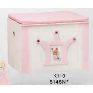 Κουτί ξύλινο πριγκίπισσα-κορώνα με μαξιλάρι Κωδ.Κ110