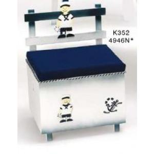 Παγκάκι ξύλινο νάυτης-άγκυρα Κωδ.Κ352