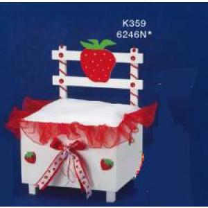 Παγκάκι ξύλινο φράουλα Κωδ.Κ359