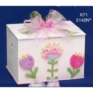 Κουτί ξύλινο με λουλουδάκια Κωδ.Κ71