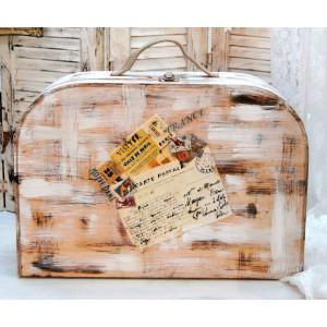 Κουτί Βαλίτσα Ξύλινο (Κωδ.00014)