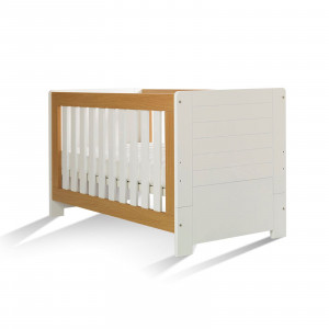 Κρεβάτι Ηρα Jenga Λευκό-Φυσικό.Ρωτήστε για την τιμή