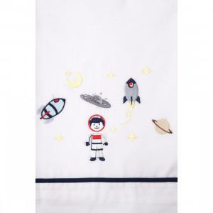 Βαπτιστικο λαδοπανο για αγορι με θεμα μικρος αστροναυτης διαστημα Α623 La Christine narlis.gr