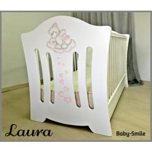 Κρεβάτι baby smile Laura Με Ζωγραφιά (Ρωτήστε για την προσφορά) (00299)