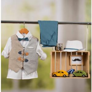Ολοκληρωμένο πακέτο βάπτισης με αυτό το κοστούμι Bambolino Leonidas (#8848-170-330#) Με βαλίτσα rain η παγκάκι θρανίο Ζητήστε προσφορά !!