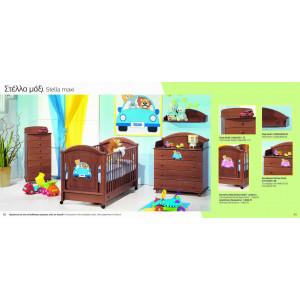 Κρεβάτι της Λίκνο Στέλλα Maxi με στρώμα grecostrom Deluxe antibacterial