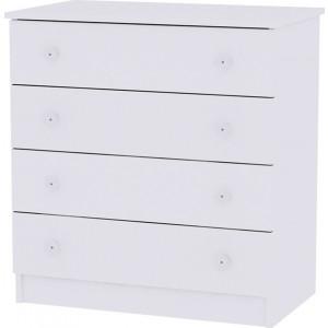 Lorelli Συρταριέρα Dresser White 10170070024A, narlis.gr