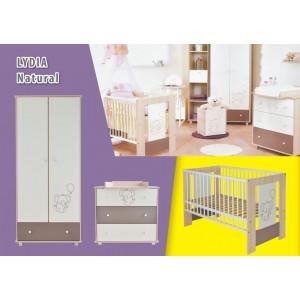 Κρεβάτι + Ντουλάπα + Συρταριέρα. Lydia Natural Deluxe