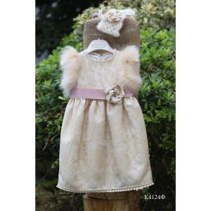 Ολοκληρωμένο πακέτο βάπτισης με αυτό το φόρεμα (Mi Chiamo Κ.4124Φ-105)