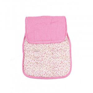 Στρωματάκι Καροτσιού Minene Διπλής Όψης Flowers & Pink Κωδ.563.001.011
