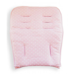 Στρωματάκι Καροτσιού Minene Διπλής Όψης Jersy Pink Star Κωδ.563.001.046