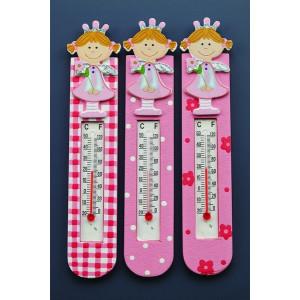 Ξύλινο θερμόμετρο πριγκίπισσα (Nuova Vita) (Κωδ.(Κωδ.ZL11E6157)