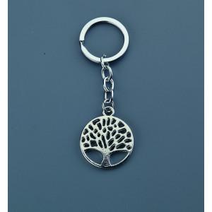 Μπομπονιέρες Βάπτισης Μεταλλικό Μπρελόκ Δέντρο Ζωής NU1532 Nuova Vita Ασημί