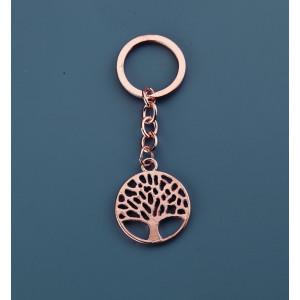 Μπομπονιέρες Βάπτισης Μεταλλικό Μπρελόκ Δέντρο Ζωής NU1533 Nuova Vita Χάλκινο