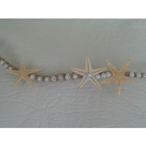 Στέφανα silea με λινάτσα θαλασσινά και πέρλες (Κωδ.Ν389)