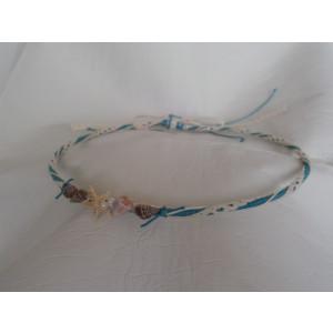 Στέφανα silea με λινάτσα θαλασσινά και πέρλες (Κωδ.Ν394)