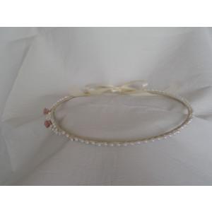 Στέφανα silea πορσελάνη με πέρλες (Κωδ.Ν400)