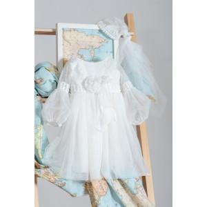 Ολοκληρωμένο πακέτο βάπτισηs με αυτό το Φόρεμα (Neonato Κωδ.ΝΚ035) Mε το κουτί Ζητήστε προσφορά!!!!!